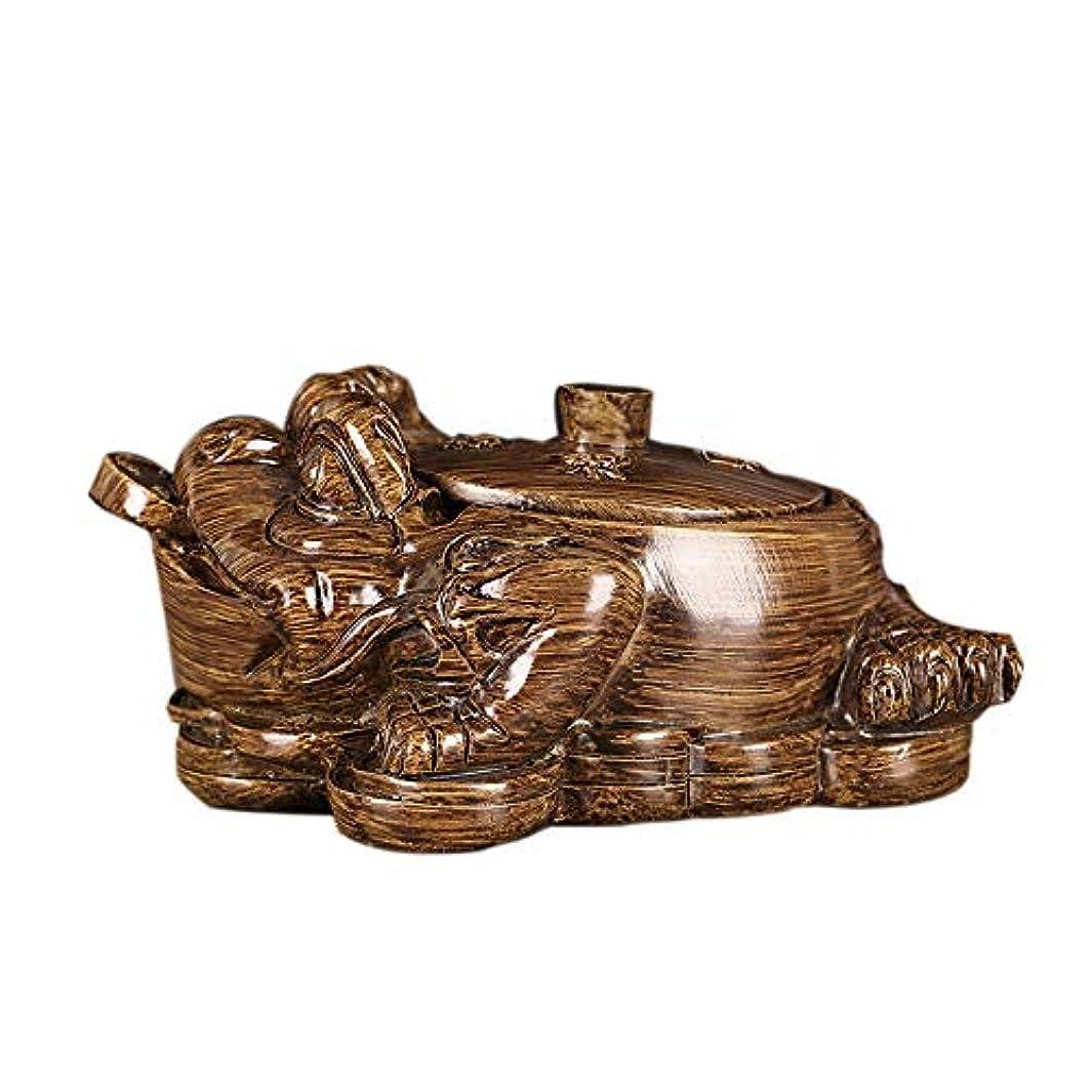 めまい貪欲アナニバーヒキガエル樹脂灰皿、屋外の灰皿ふたクリエイティブ