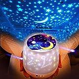 (2018最新版) ベッドサイドランプ LEDナイトライト プラネタリウム家庭用 スタープロジェクター 投影ランプ 星空再現360度回転 多色変更可能 USB 電池 兼用 ホーム飾りライト ロマンチック雰囲気作り 誕生日/子供/母の日プレゼント/パーテイー/バレンタインデーギフトなど対応