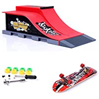 Mini Skate Park Ramp Parts for Tech Deck Fingerboard Finger Skateboard Ultimate Parks Ramp E