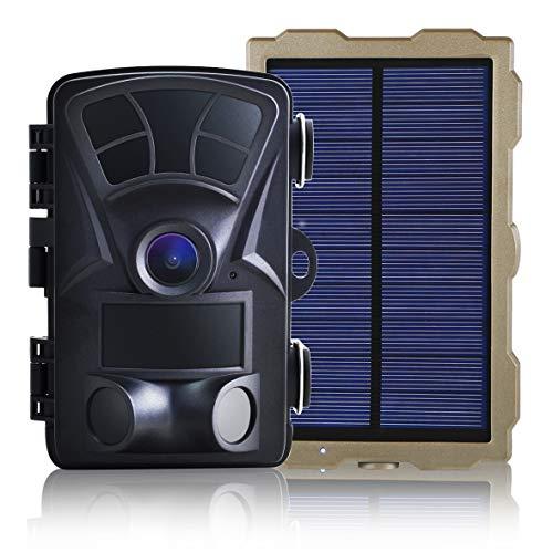 SecuSTATION トレイルカメラ 防犯カメラ ソーラーパネル付属 高画質 1600万画素 日本メーカー 人感センサー...