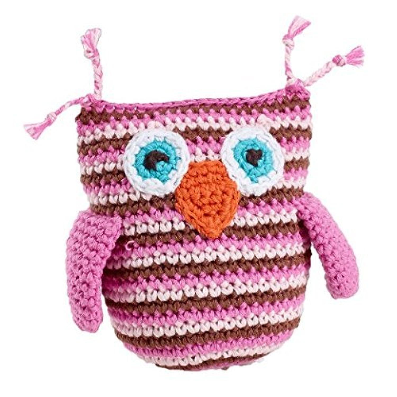 Pebble Rattle - Owl - Pink Stripey [並行輸入品]