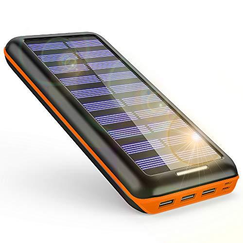 KEDRON『モバイルバッテリー ソーラーチャージャー 24000mAh』