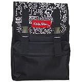 リュック サック 黒 ブラック ホワイト (キースヘリング) メンズ レディース おしゃれ アウトドア 大容量 (CV15002 ブラック)