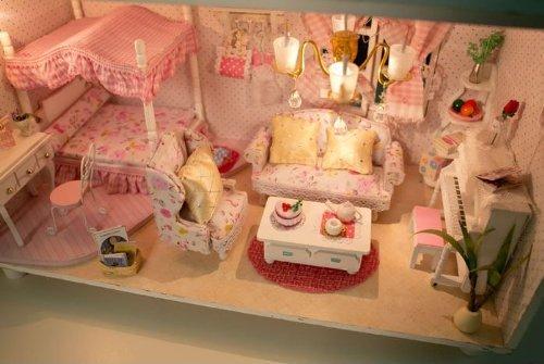 【 かわいい ポーチ 付】 kkproject 手作り ドールハウス オシャレ な ピンクの夢