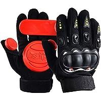serodaスライドグローブLongboardグローブ、大人用スケートボード保護手袋with 3つスライドPucks