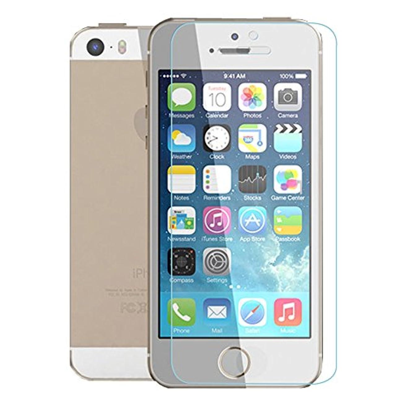レクリエーション保証金分GLOW Apple iPhone5/5S/5C強化ガラス アンチグレア マットタイプ 01840-8