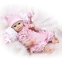 NPKDOLLシミュレーションRebornベビー人形ソフトSiliconeビニール18インチ45 cm Lifelike Vivid Boy Girl Toyレッドホワイト枕Eyes Open