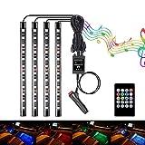 GIMART 車 LEDテープライト RGB LEDテープ 車内装飾用 防水 高輝度 高品質 音に反応 フットランプ 全8色に切替