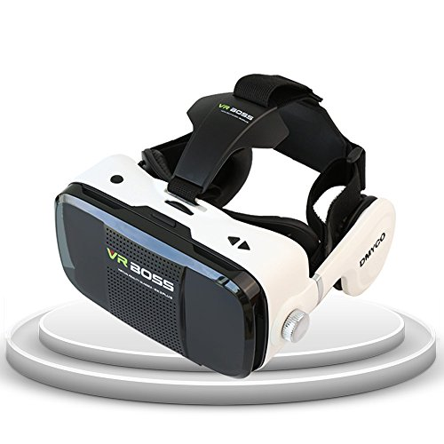DMY-CO 3DVR ゴーグル スマホVRグラス 4.7-6.0インチのAndroidやIOSスマホに適用 ゲーム 映画 ビデオ 非球面レンズ 超3D映像体験 立体視覚や聴覚 仮想現実VRメガネ 焦点距離/瞳孔距離調整可能 [並行輸入品]