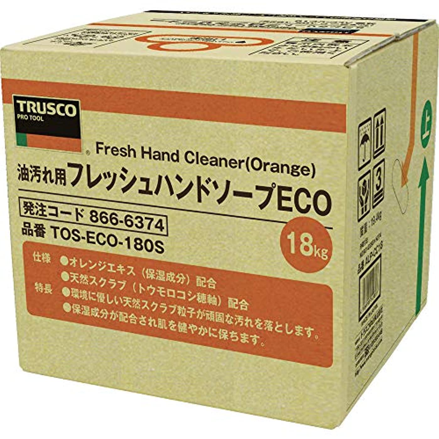 武器アドバンテージ唯一TRUSCO(トラスコ) フレッシュハンドソープECO 18L 詰替 バッグインボックス TOSECO180S