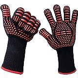 【ganbalzo】 耐熱グローブ 800℃ 2枚入り バーベキュー 薪ストーブ 耐熱手袋 洗濯可能!