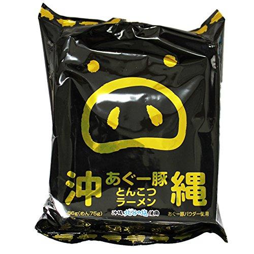 沖縄あぐー豚 とんこつラーメン 82g(めん75g)×5食入×6袋×3ケース 沖縄北谷の塩使用