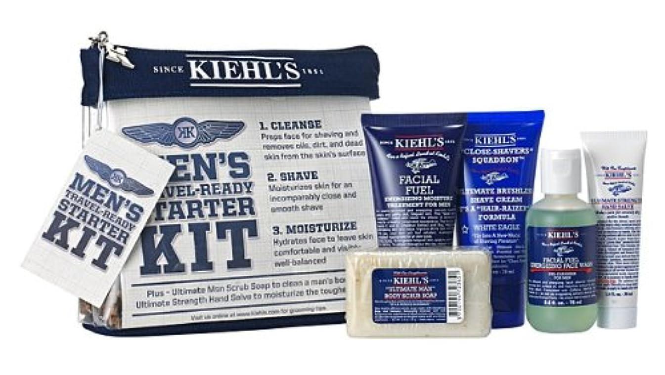協定どきどき過半数【海外直送】Kiehl's (キールズ), MEN'S Travel-Ready Starter KIT セット [並行輸入品]