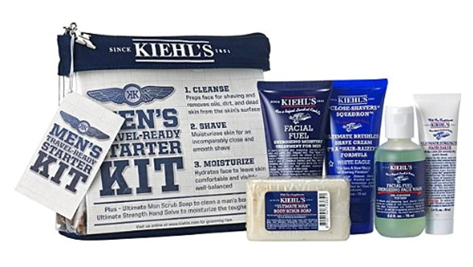 損傷ウォルターカニンガムファウル【海外直送】Kiehl's (キールズ), MEN'S Travel-Ready Starter KIT セット [並行輸入品]