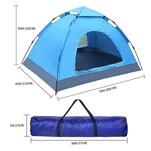 Wonbor ワンタッチテント 2-3人用 設営簡単 テント キャンプ用品 公園遊び アウトドア お釣り ブルー