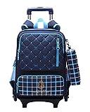 (ピーキー)Peigee キャリーケース リュックのセット 学生キャリーバック パック デイパック 2way バッグ トロリー 旅行 鞄 男の子 女の子 kids 子供 おしゃれ 遠足 小学生 中学生 可愛い (ブルー)