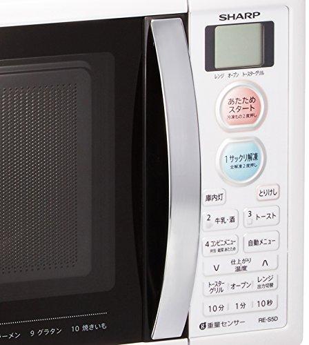 シャープ オーブンレンジ トースト機能付き 1段調理 15L ホワイト RE-S5D-W