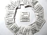 シリカゲル 乾燥剤 SILICA GEL 英語表記 37*35mm 時計など精密機器の保管にも 個人用 業務用 (50個セット)