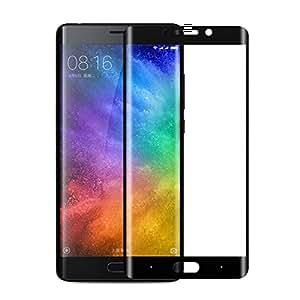 Xiaomi Mi Note 2 フィルム 専用強化ガラスフィルム 耐指紋 耐衝撃 撥油性 超耐久 飛散防止処理保護フィルム 硬度9H 超薄0.33mm (ブラック)日本語の説明書が(Xiaomi Mi Note2、5.7インチ対応) …