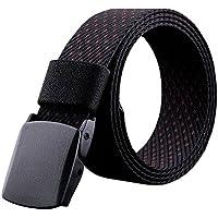 Phoenix Wonder Black/Red Fashionable Mens Canvas Belts Casual Knitting Belt Bales Catch