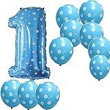 バースデー バルーンセット アルミバルーン 風船 誕生日 パーティ お祝い 記念日 飾り 部屋 デコレーション 装飾 1歳バルーン男の子対応
