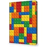 Kintsu iPad mini4 7.9 ケース 出席簿 ノート おもしろ ブロックのおもちゃ PUレザー 三つ折スタンド