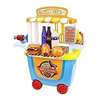Yuena Care ままごと遊び ままごと 食器 ごっこ遊び ままごと セット 料理おもちゃ 玩具 おもちゃ 調理おもちゃ ミニトロリー カート バーベキュー 知育玩具 プレゼント 子供用 調理器具 ショッピング #2