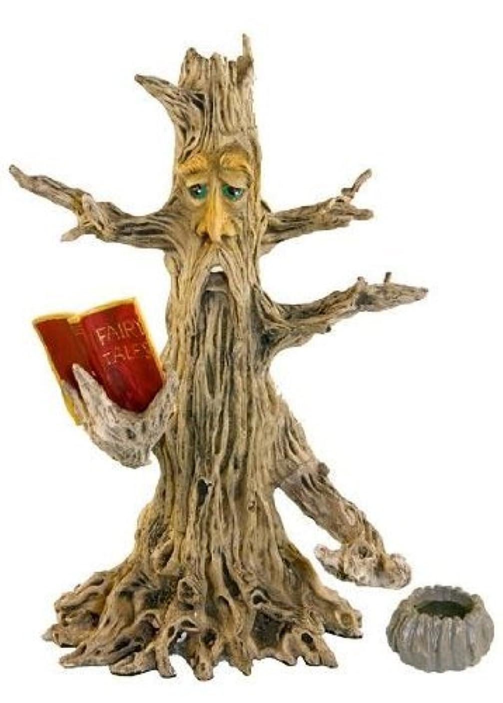 時間厳守小さなアプトUpright Poet Tree Man Stick & Cone Incense Burner 28cm