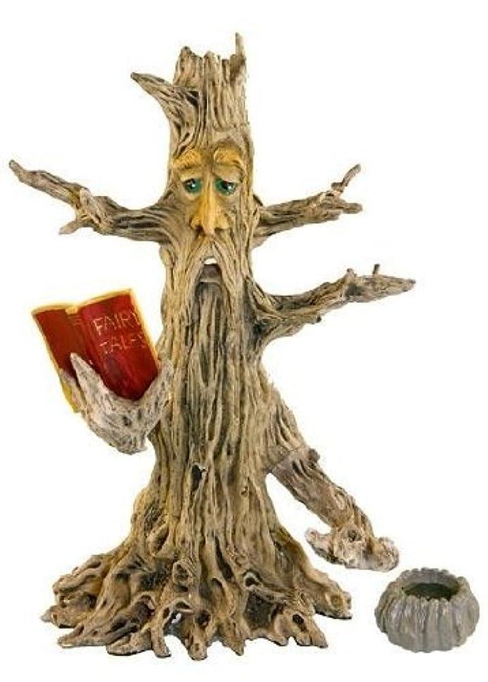 顧問対称逃すUpright Poet Tree Man Stick & Cone Incense Burner 28cm