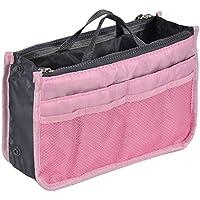 uxcell ストレージバッグ 化粧品メイクアップバッグ 布ハンドバッグトートバッグ プラスチック ナイロン