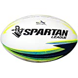 SPARTAN Elite Rugby League Match Ball, White, Size 5