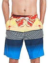 マルチサイズ 軽量スポーツパンツ クイックドライサーフショーツ ルーズビーチショーツ クール サマーパンツ メンズスイムショーツ ダブルポケット付き (サイズ : XL)