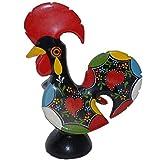 ヴィンテージ ポルトガル製 陶器雄鳥 ガロ ニワトリ フィギュア ハンドペイント 高さ23cm