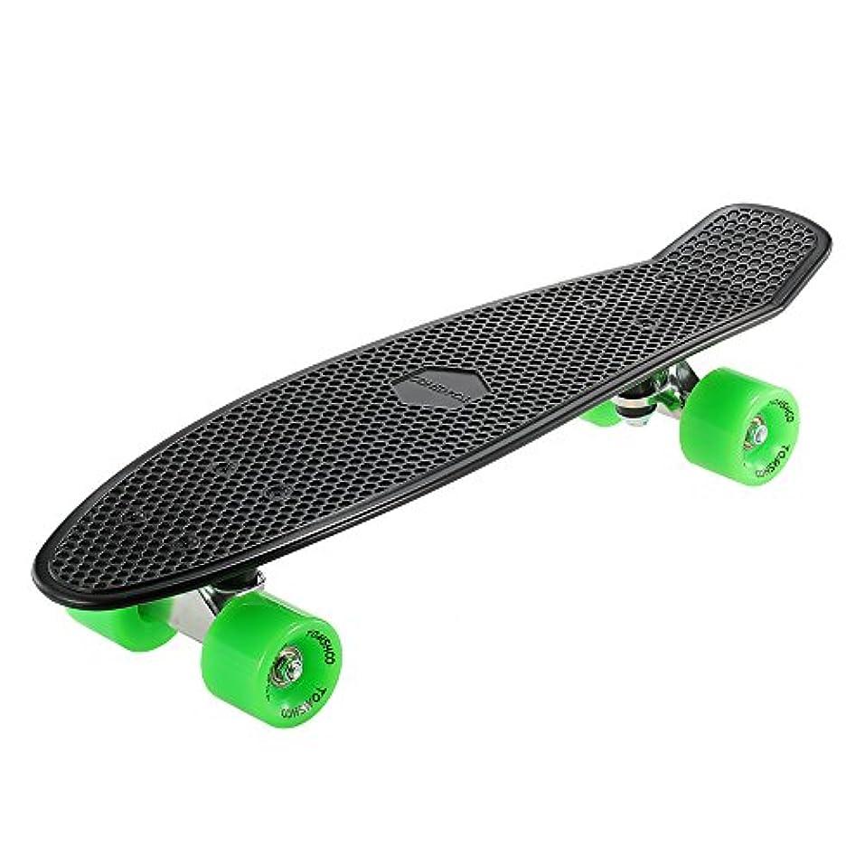 石わずらわしい居間スケートボードスケートボード22インチ魚クルーザーボードPU 4ホイール – ブラック