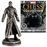 MarvelスパイダーマンNoir White Pawn Chess Piece withコレクターMagazine