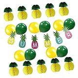 Fenteer パーティー 飾り付けセットバナー 風船 ハニカムボール 可愛い パイナップル