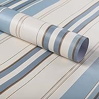 fancy-fix 壁紙 地中海柄 簡単貼付シール ストライプ柄 はがせる 現代風 44.5cm*10m 1本付き