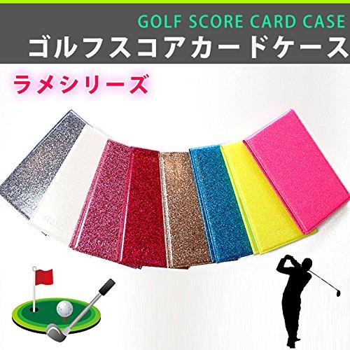 【AWESOME/オーサム】マルチカラー ゴルフスコアカードケース 縦型  ラメ/ブラック ASGFT-LM002