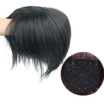 JPDREAMWORLD 部分ウィッグ 付け毛 医療用ウィッグ ヘアピース 通気 ウイッグ 総手植えモノスキン 脱毛隠し 軽薄 白髪隠れ 人毛で制作