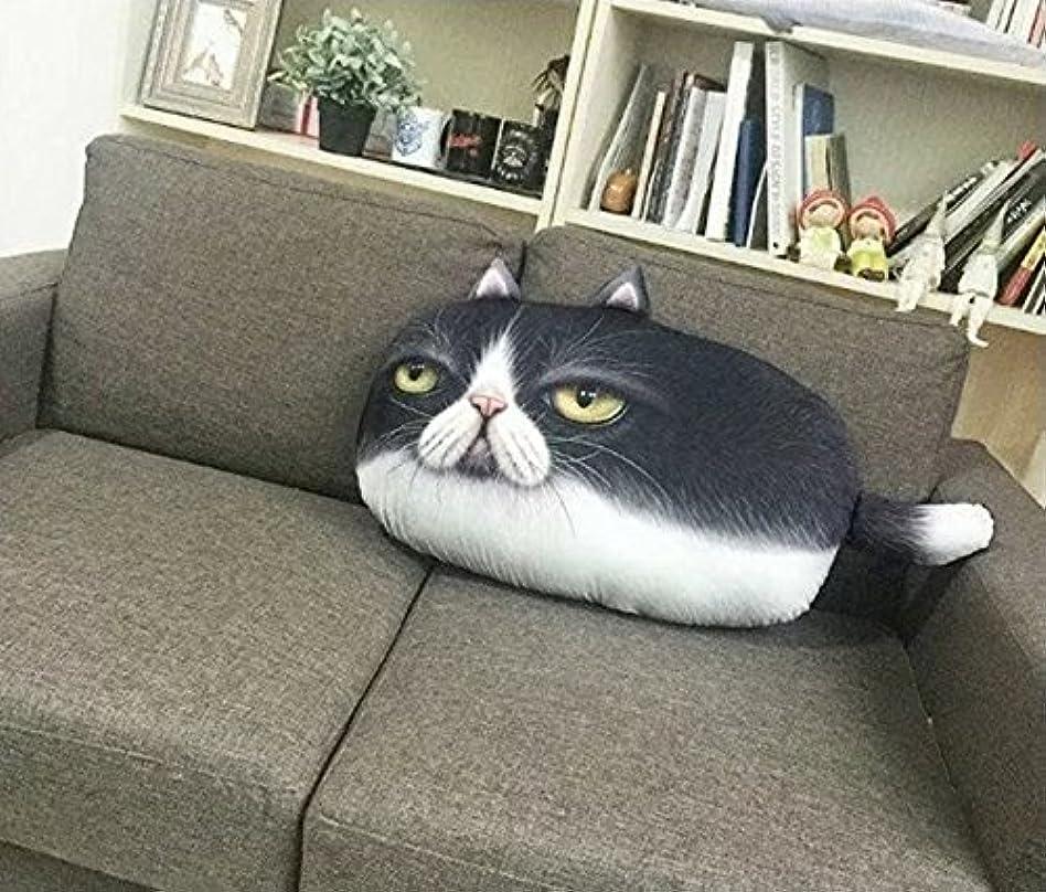 揃えるブレンドサロン55 * 32センチメートル漫画現実的な3D枕、オフィスソファのヘッドレスト (色 : # 3)