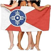 確認VTビーチタオルの国旗ウィチタ80 cm X 130 cmソフト軽量吸水性のバス水泳プールヨガピラティスピクニックブランケットタオル