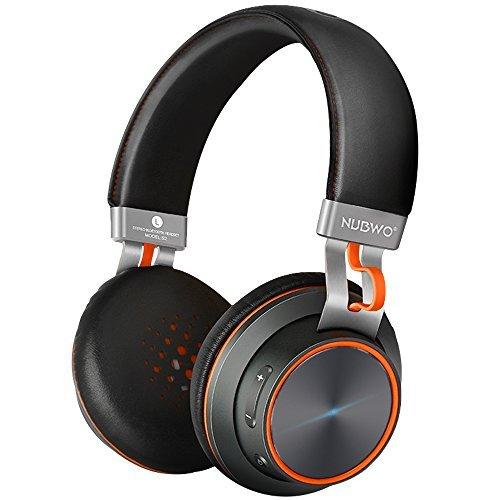 ブルートゥースヘッドホン Bluetooth ヘッドホン Wireless on-ear イヤホン ワイヤレスヘッドセット NUBWO 高音質 最大14時間連続再生 内蔵マイク PC Mac スマホなどに対応 (ブラック)