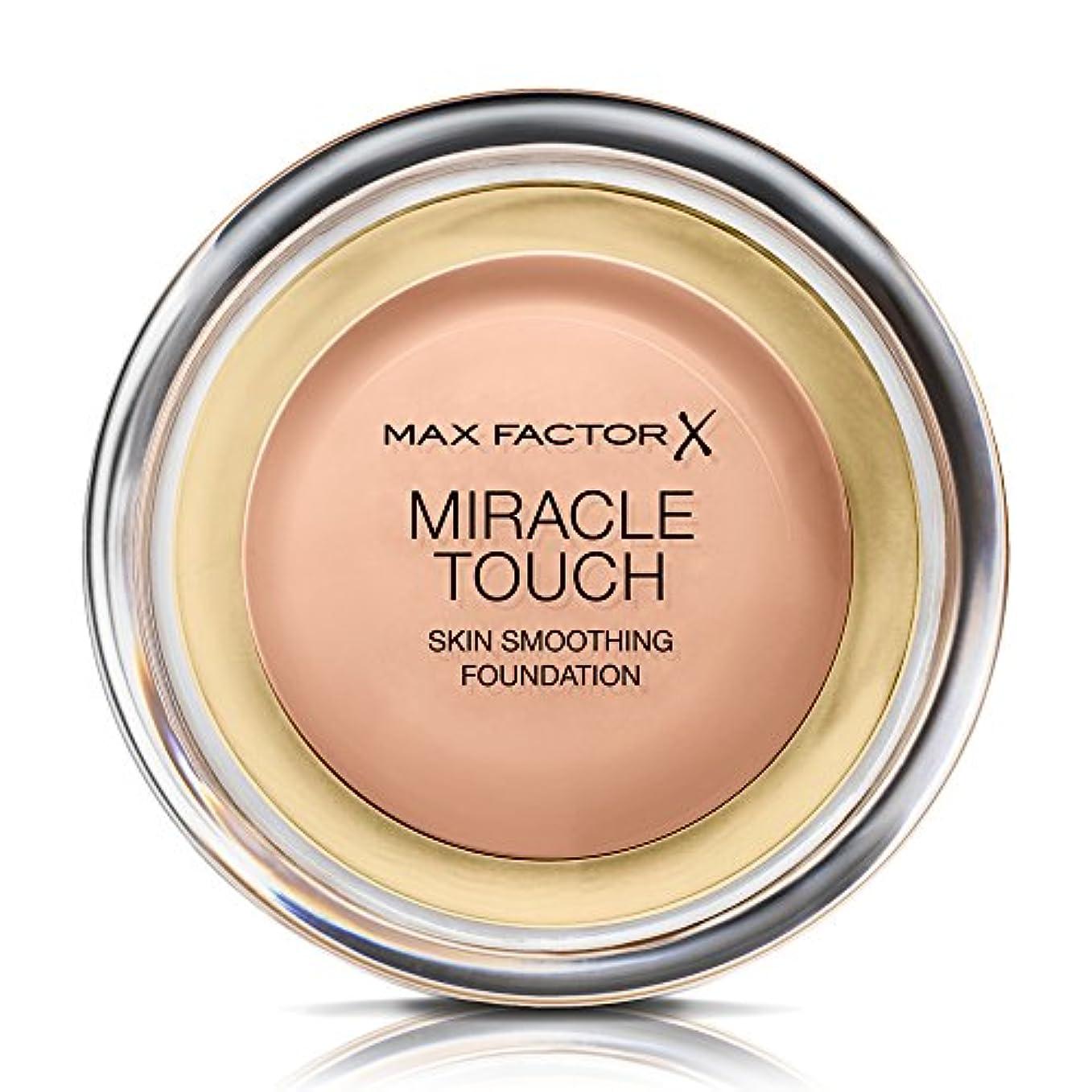 塗抹在庫海港マックス ファクター ミラクル タッチ スキン スムーズ ファウンデーション - ブラシング ベージュ Max Factor Miracle Touch Skin Smoothing Foundation - Blushing...