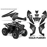 AMR Racing Graphics Can - Am Renegade 800XRすべてYears ATVビニールラップキット–Cold Fusionブラック