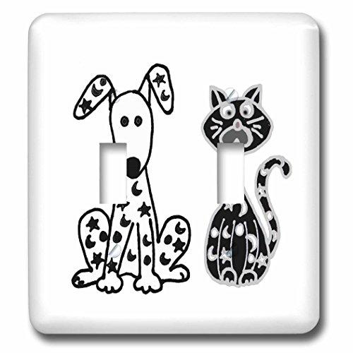 3dローズLSP _ 234658_ 2面白い犬と猫と星と...