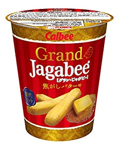 カルビー グランじゃがビー Grand Jagabee 焦がしバター味 38g×12個