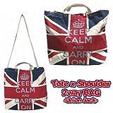 ユニオンジャック フラッグ 2WAY バッグ (トートバッグ/ショルダーバッグ) イギリス 国旗 雑貨 グッズ