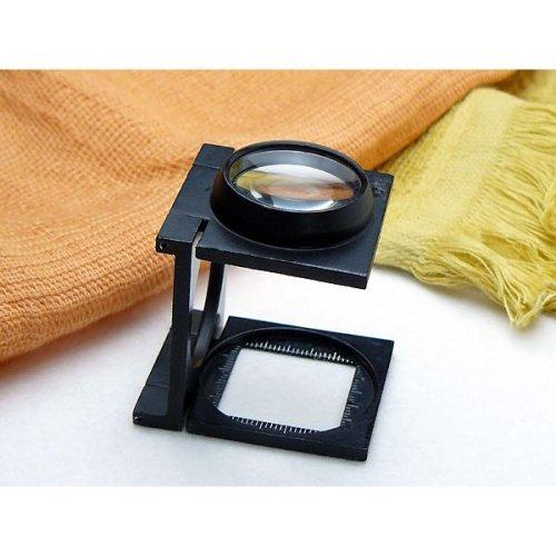 リネンテスター I-CW6 (6倍28mm) 2枚レンズ・縞見ルーペ1mm目盛(測定範囲25mm) (CK-I-CW6)