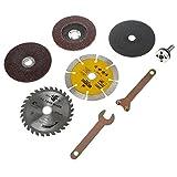 ロータリー ブレード ディスクグラインダー 金属 切断砥石 研磨ディスク ルーター工具 レンチ 8個入りセット