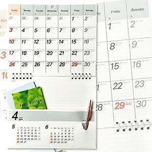 ポケット付カレンダー メモルダー 2017